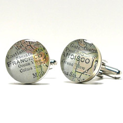 Antique San Francisco Map Cufflinks