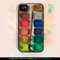 Water Color Set iPhone Case by Crafic