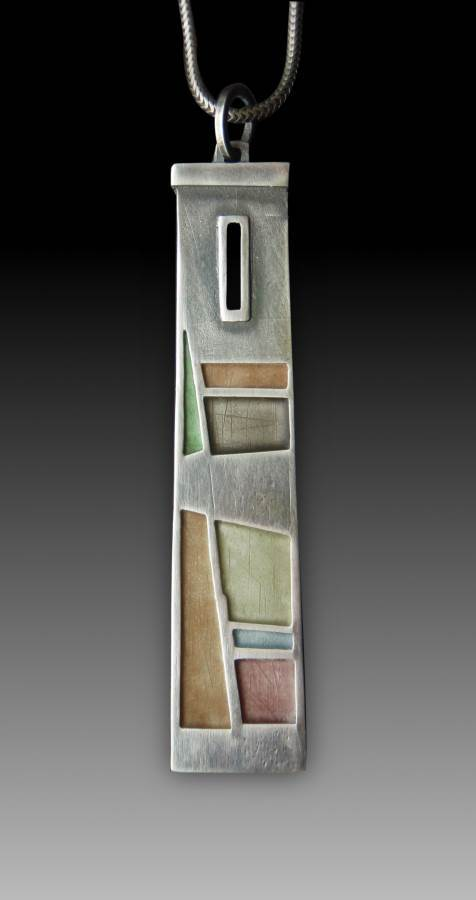 Tower Window Pendant No. 418 by Carly Wright