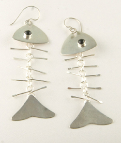Fishbone Earrings by Jan Polombo