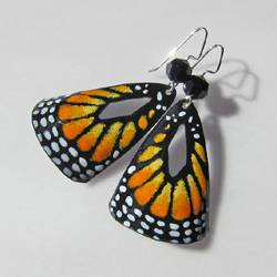 Enamel Monarch Butterfly Earrings by Patsy Oxley