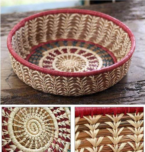 Natural fibers basket, 'Mother Nature' (Guatemala)