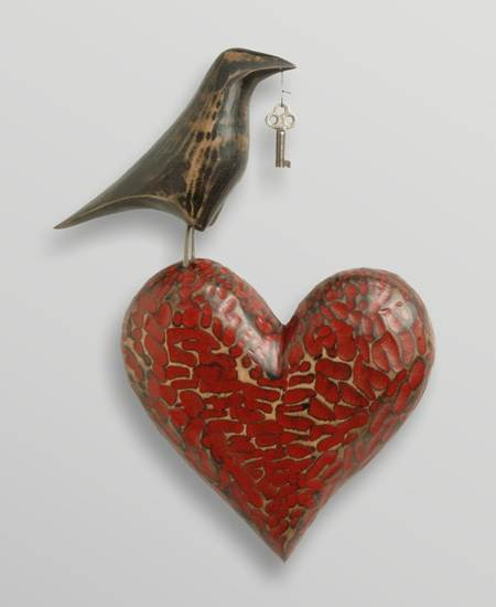 Heart Art Sculpture For Your Valentine Handmade By