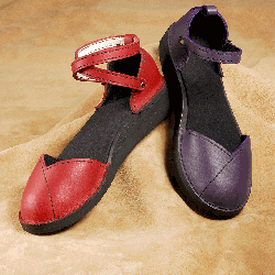 Handmade leather women's shoes by Sara's Shoes