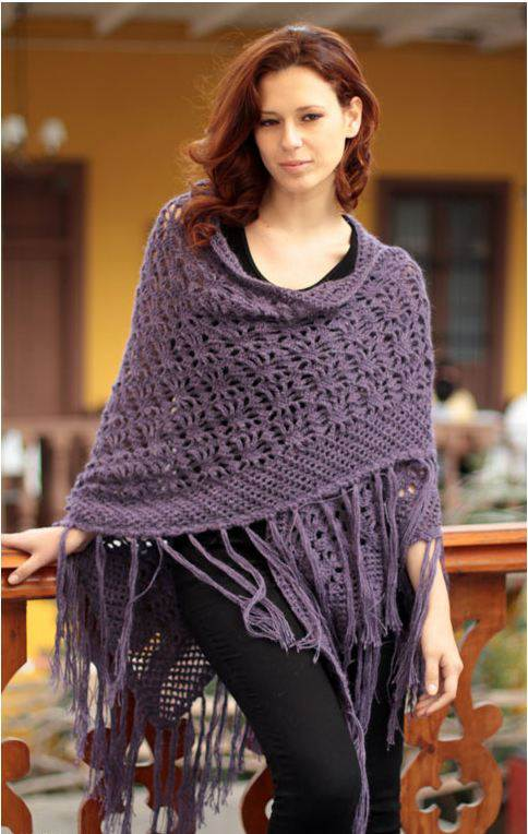 Alpaca shawl by Elvia