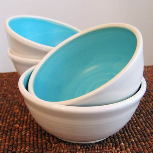 Stoneware bowls by Karin Lorenc