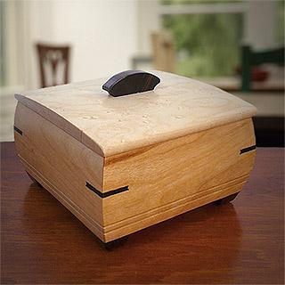 Handmade Wood Ring Box / Cufflink Box