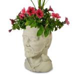 St Francis Concrete Head Planter