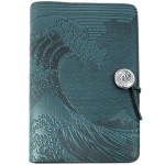 Hokusai Wave Refillable Embossed Leather Journal