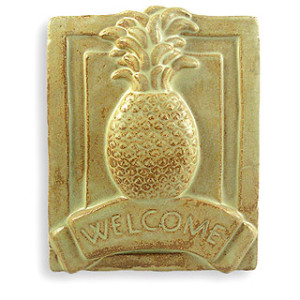 Pineapple Ceramic Welcome Sign