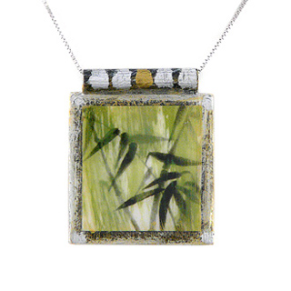"Art Print Necklace: ""Bamboo"""