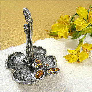 Queen Bee Pewter Ring Holder