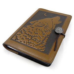 Wolf Refillable Embossed Leather Journal