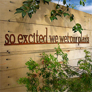 So Excited We Wet Our Plants Outdoor Wall Art