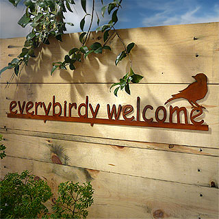 Everybirdy Welcome Outdoor Wall Art