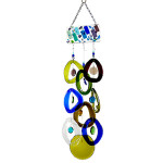 Recycled Glass Bottle Wind Chime : Mountain Rain