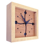Cherry Wave 8x8 Box Clock