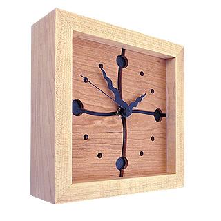 Cherry Wave 8x8 Box Clock