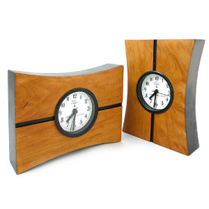 Turning Time Cherry Desk Clock