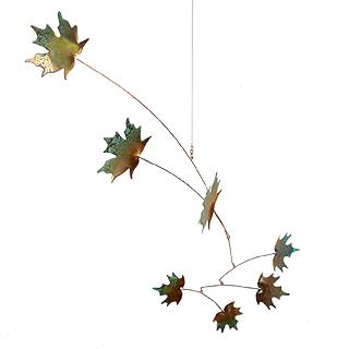 Copper Maple Leaf Indoor/Outdoor Mobile, 7-Leaf Version