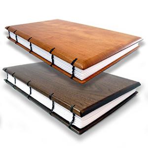 Hardwood Guest Book / Visitor Log / Keepsake Journal with Coptic Binding