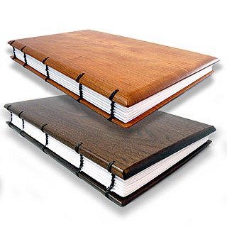 Hardwood Guest Book / Visitor Log / Keepsake Journal with Coptic Binding