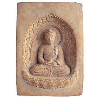 Buddha Cast-Stone Garden Plaque
