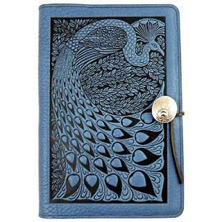Peacock Embossed Leather Journal