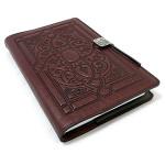 Wine Florentine Embossed Leather Journal