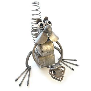 Nutty Squirrel Metal Garden Sculpture