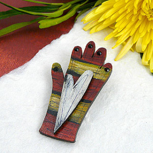 Painted Hand Pin
