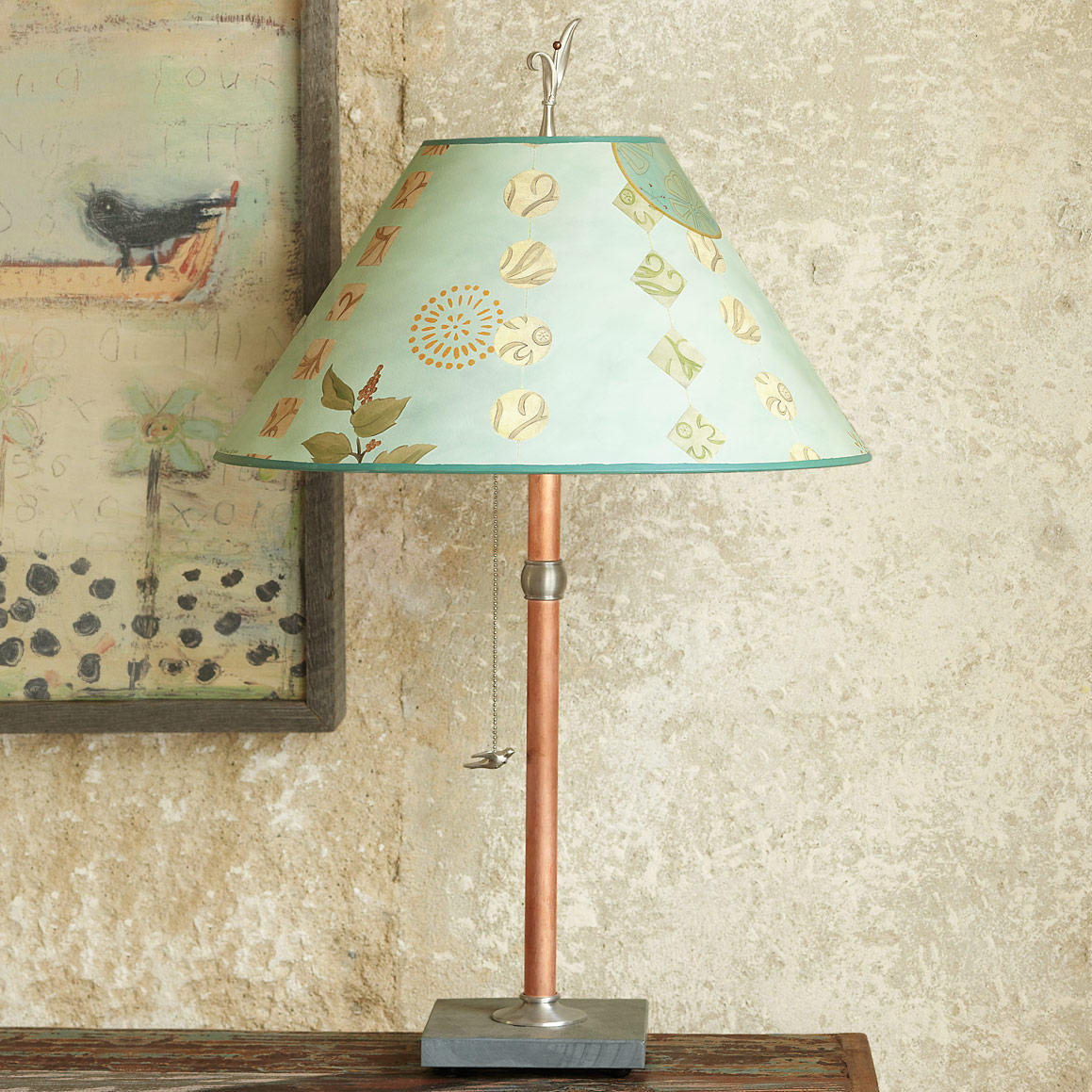 Red Bird Table Lamp