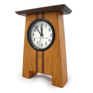 Craftsman-Style Wood Desk Clock