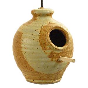 Stoneware Chickadee Bird Feeder