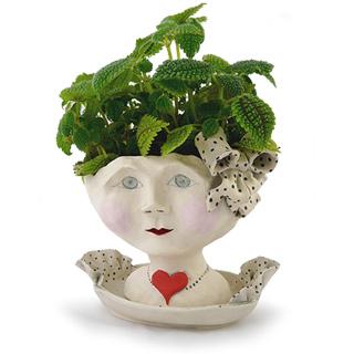 Victorian Lovelies Head Planter - Debutante Version