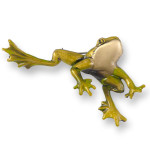 Whimsical Brass Frog Pin