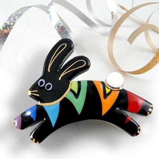 Rainbow Rabbit Pin