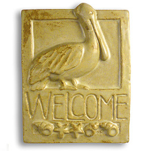 Pelican Ceramic Welcome Sign