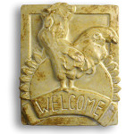Rooster Ceramic Welcome Sign