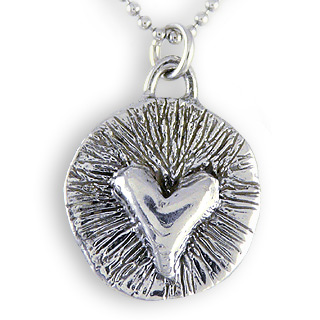 Sterling Silver Artisan-Crafted Heartbeat Necklace