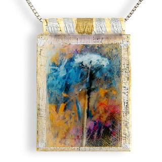 "Eco Art Print Necklace: ""Queen Annes Lace"""
