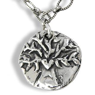 'Walk Boldly Grow Wise' Tree Pendant