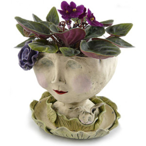 Victorian Lovelies Head Planter - Lily Rose Version