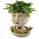 Victorian Lovelies Head Planter - Petaluma Lady Version