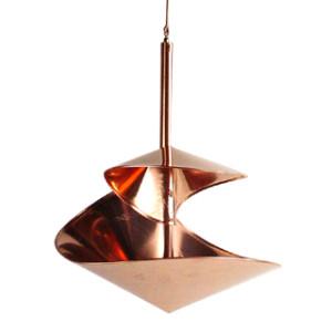 Copper Swirl Birdbath, 10-inch diameter