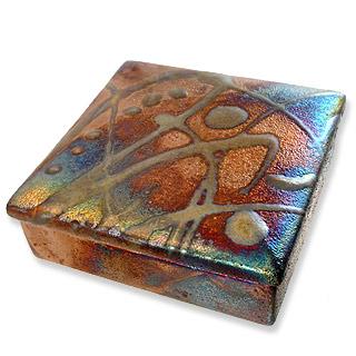 Raku Pottery Keepsake  Box