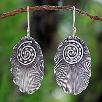 Sterling silver dangle earrings, 'Lanna Glamour'