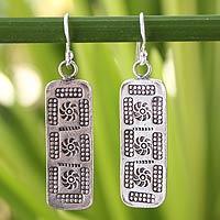 Sterling silver dangle earrings, 'Chiang Mai Harmony'