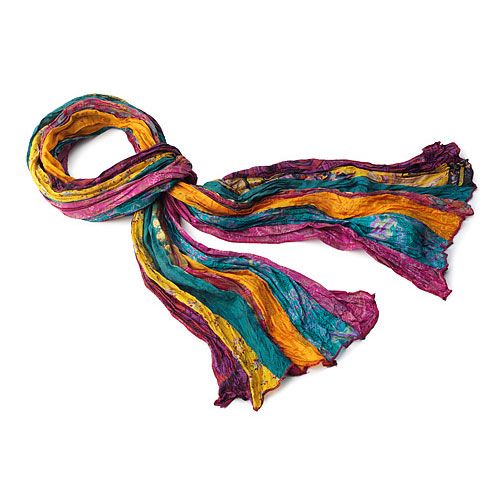 Jewel Toned Sari Scarf