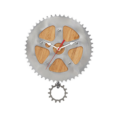 Bamboo Bike Wall Clock
